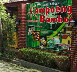 eat at Kampoen Bamboe restaurant