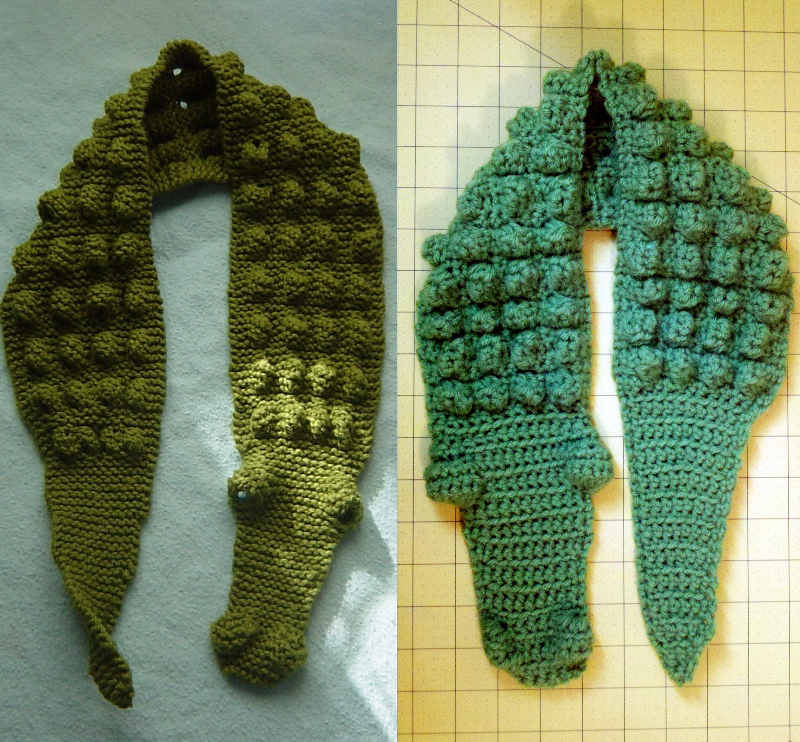Free Knitting Pattern For Alligator Scarf : Bright and Shiny - Lovely and Good: Crochet Gator Scarf for Kids - Pattern