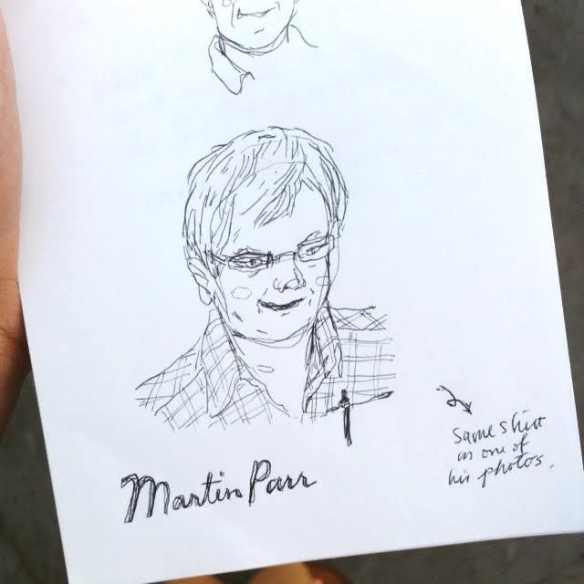 Kitty N. Wong / Martin Parr Ballpoint Pen Sketch