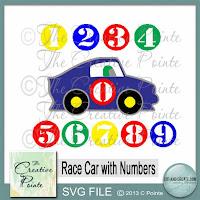 The Creative Pointe Race Car Birthday Card For Kids