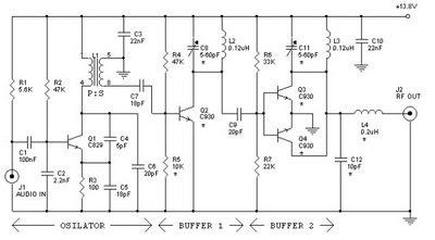 12 watt fm transmitter circuit amplifier circuit. Black Bedroom Furniture Sets. Home Design Ideas