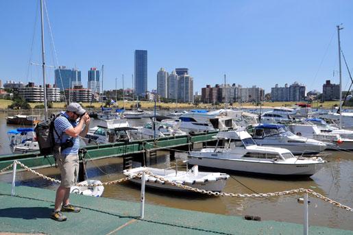 [Isaac Pacheco en el Puerto de Buceo, en Montevideo, Uruguay. U.S. Embassy photo: Pablo Castro]