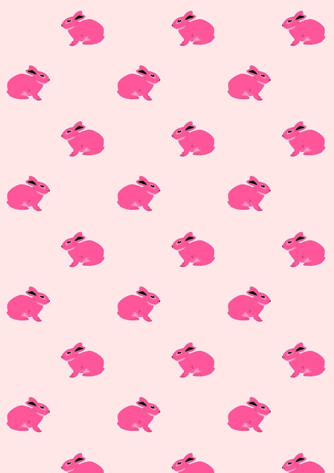 Free digital bunny scrapbooking paper - ausdruckbares Geschenkpapier ...