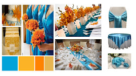 WEDDING RECEPTION IDEAS WITH AQUA & ORANGE