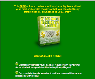 free 12 day manifesting money e-course webpage