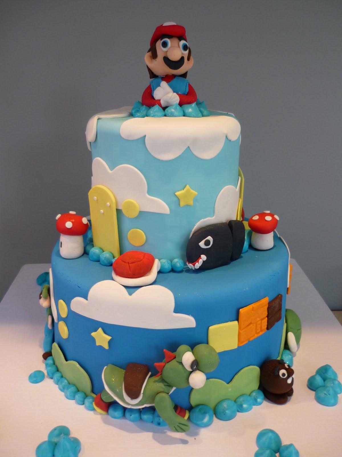 Artisan Bake Shop Super Duber Super Mario Video Game Cake