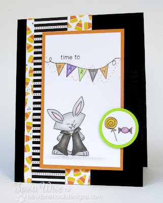 Halloween Party card by Tessa Wise for Inky Paws Challenge #3