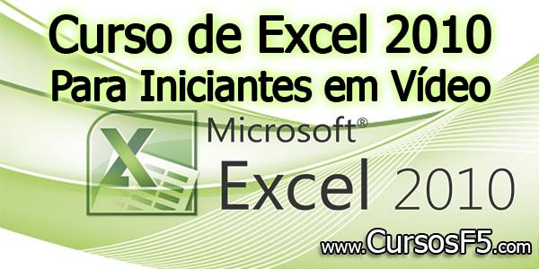 Curso de Excel 2010 Para Iniciantes em Vídeo