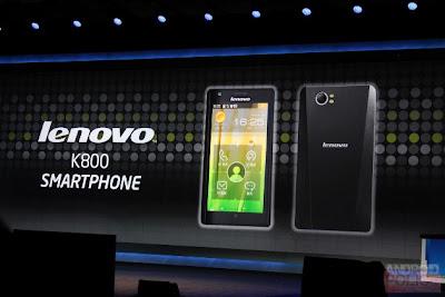 Primeiro smartphone com chip Medfield da Intel é apresentado na CES 2012 e se chama Lenovo K800