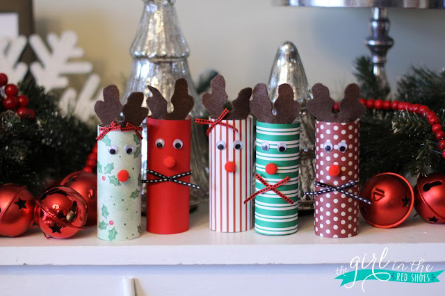 Christmas craft ideas toilet rolls