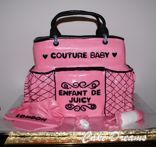 Juicy Couture Baby Shower Cake