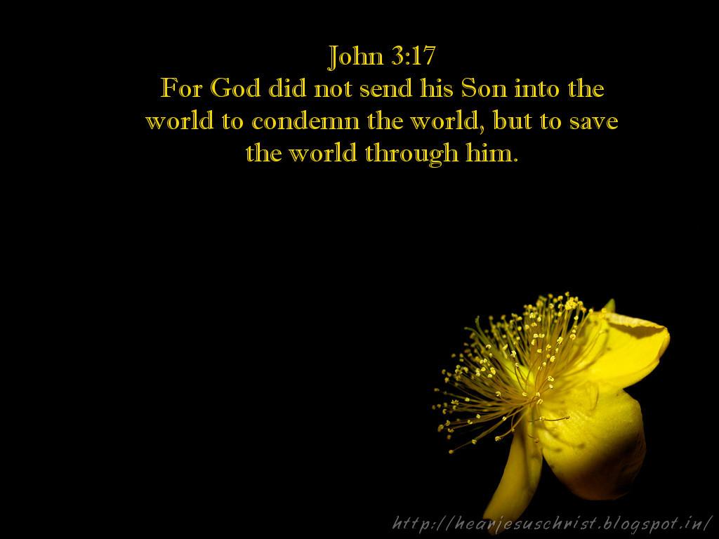 Christian Wallpapers: Bibel Verse Wallpaper - John 3:17
