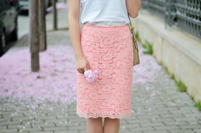 Sense pink lace skirt