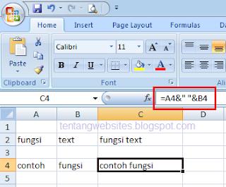 fungsi text concatenate