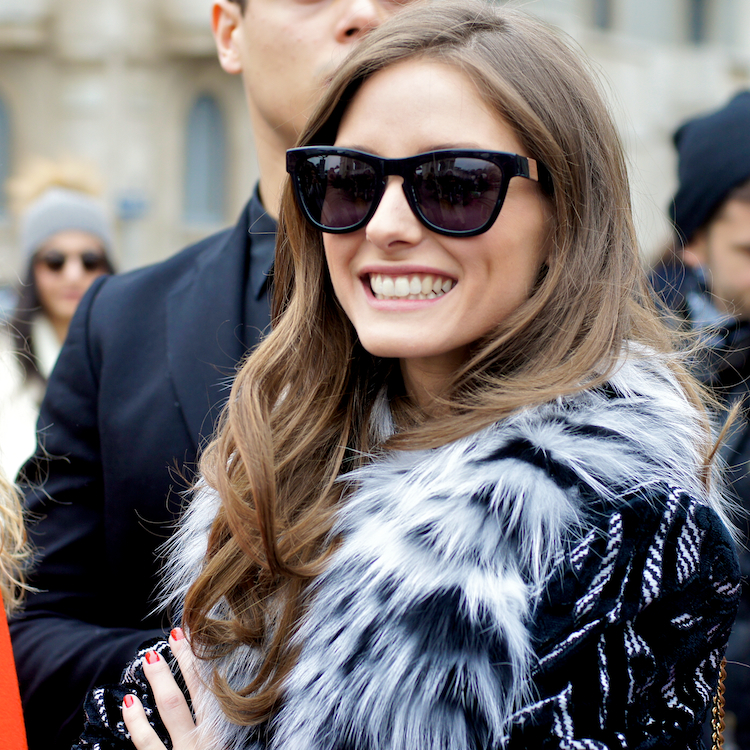 Olivia Palermo at Roberto Cavalli fashion show