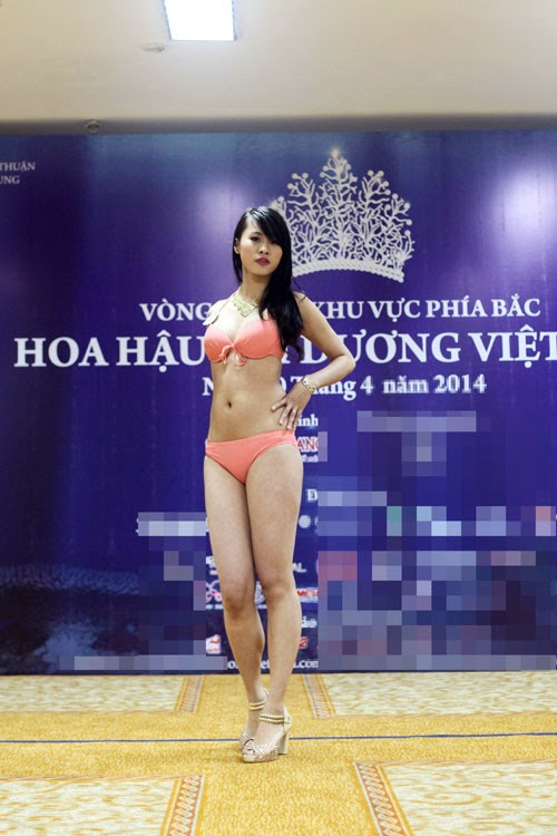 Miss contestants in the Miss Dai Duong