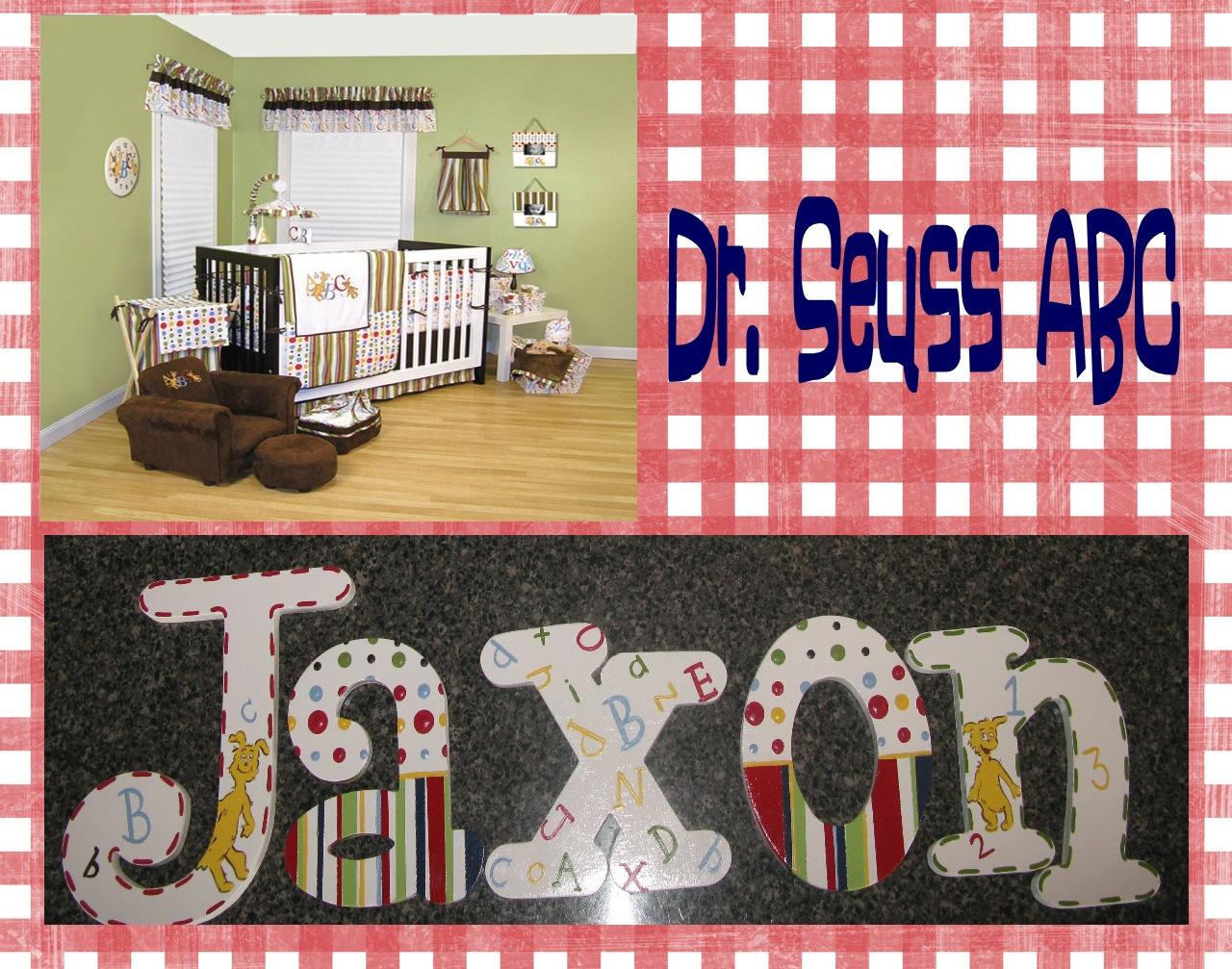 Dr. Seuss Hand Painted ABC Nursery Letters