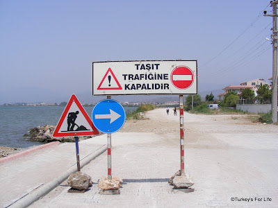 Raod Sign in Fethiye, Turkey