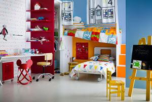 dormitorios coloridos para niños