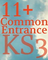 11+ Eleven Plus, Common Entrance and Key Stage Three KS3 Resources