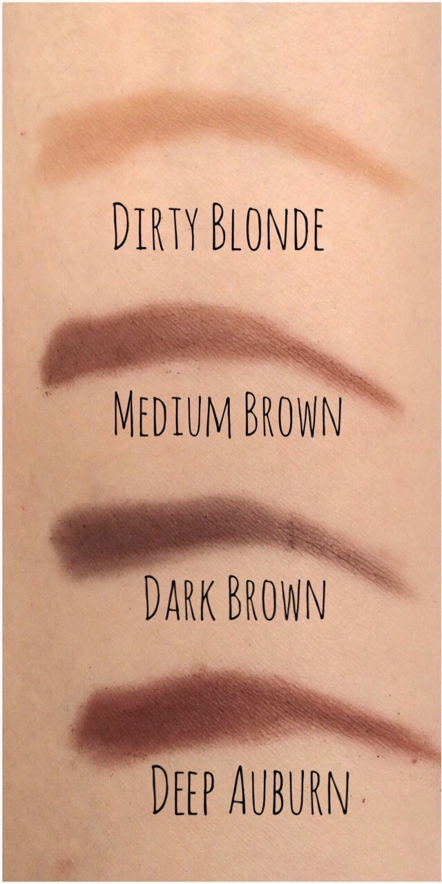 Dirty Blonde, Dark Brown, Medium Brown, Deep Auburn