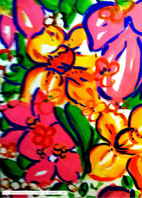 Brights- watercolor- Lilly Pulitzer- write 31 days
