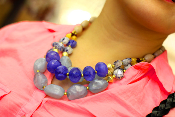 Anthropologie Chunky Jewel Necklace