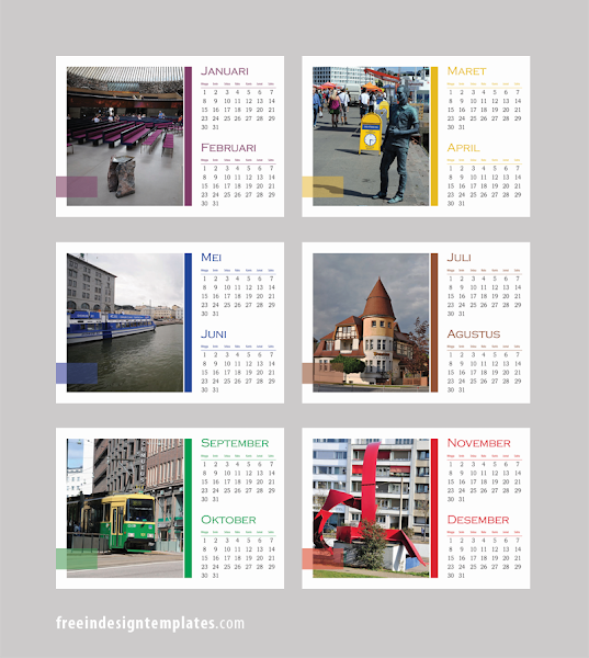 Indesign Desk Calendar Template