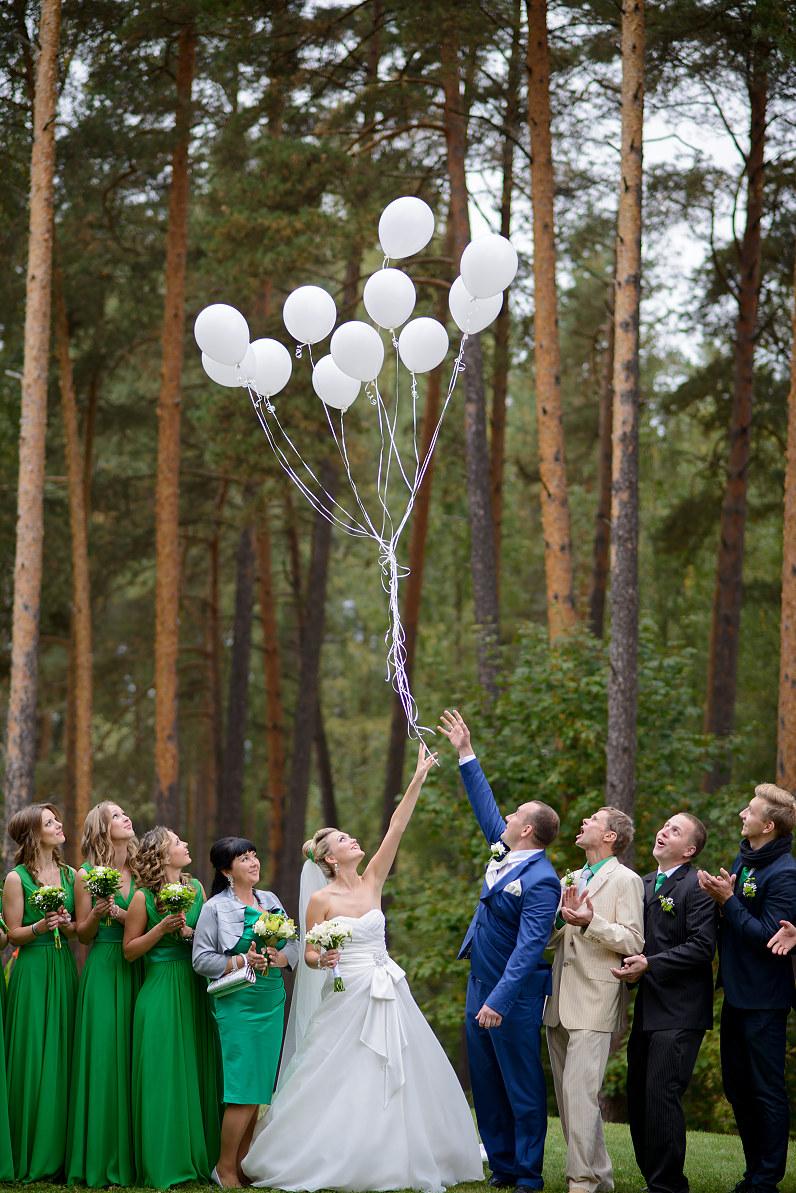 jaunavedžiai leidžia baltus balionus