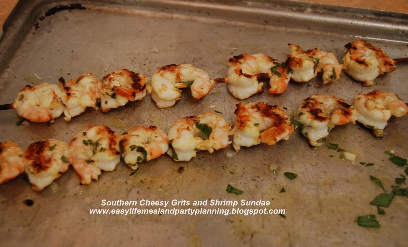 Shrimp, Southern style grits, marinated shrimp, shrimp kabobs, grilled ...