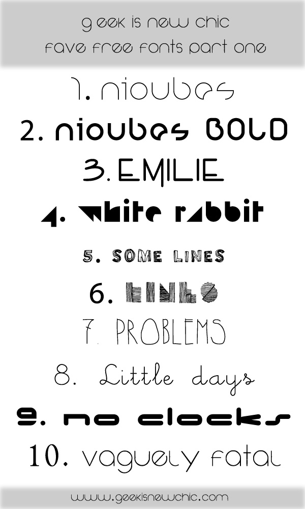 Geeks free fonts part one