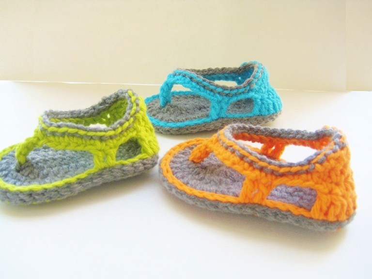 Trekkers Crochet Pattern Flip Flop Sandals For Baby Boys 0 12
