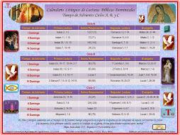 Lecturas Bíblicas Ciclos: A, B, y C