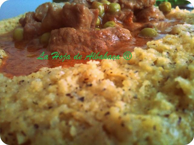 polenta, gorgonzola, estofado