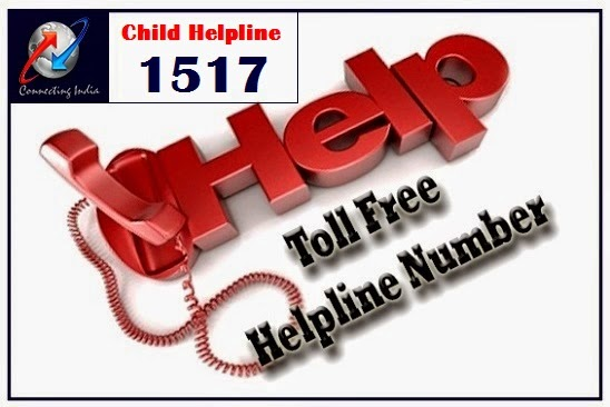 helpline number of india