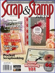 As seen in Scrap and Stamp Arts Magazine
