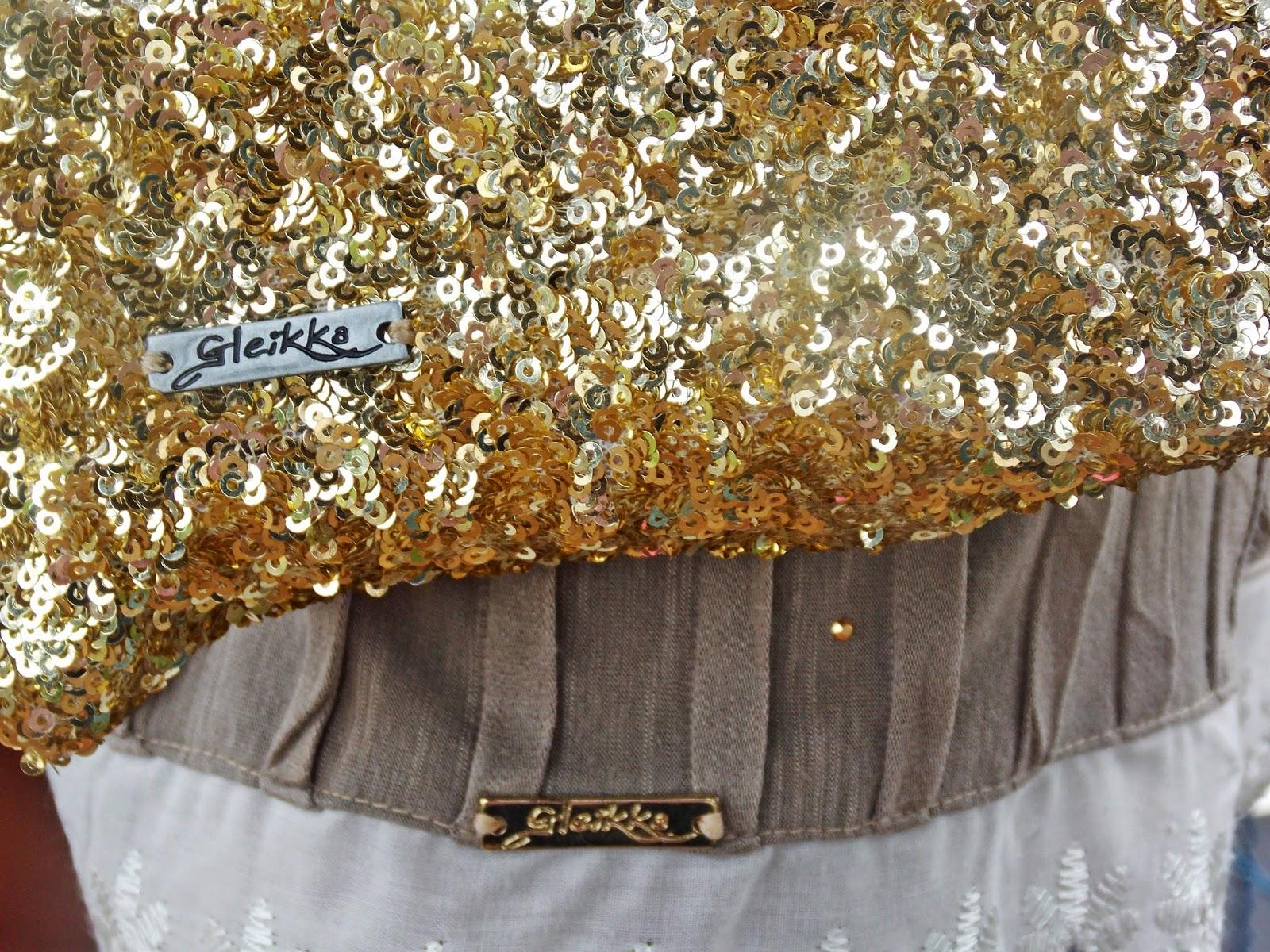 Look Gleikka, Blog, Saia, Blusa, Clutch de paetê, Sandália colorida, Vizzano, Mistura de texturas, Moda 2014, Cinto largo, Look do dia, Camisa feminina, Saia rodada