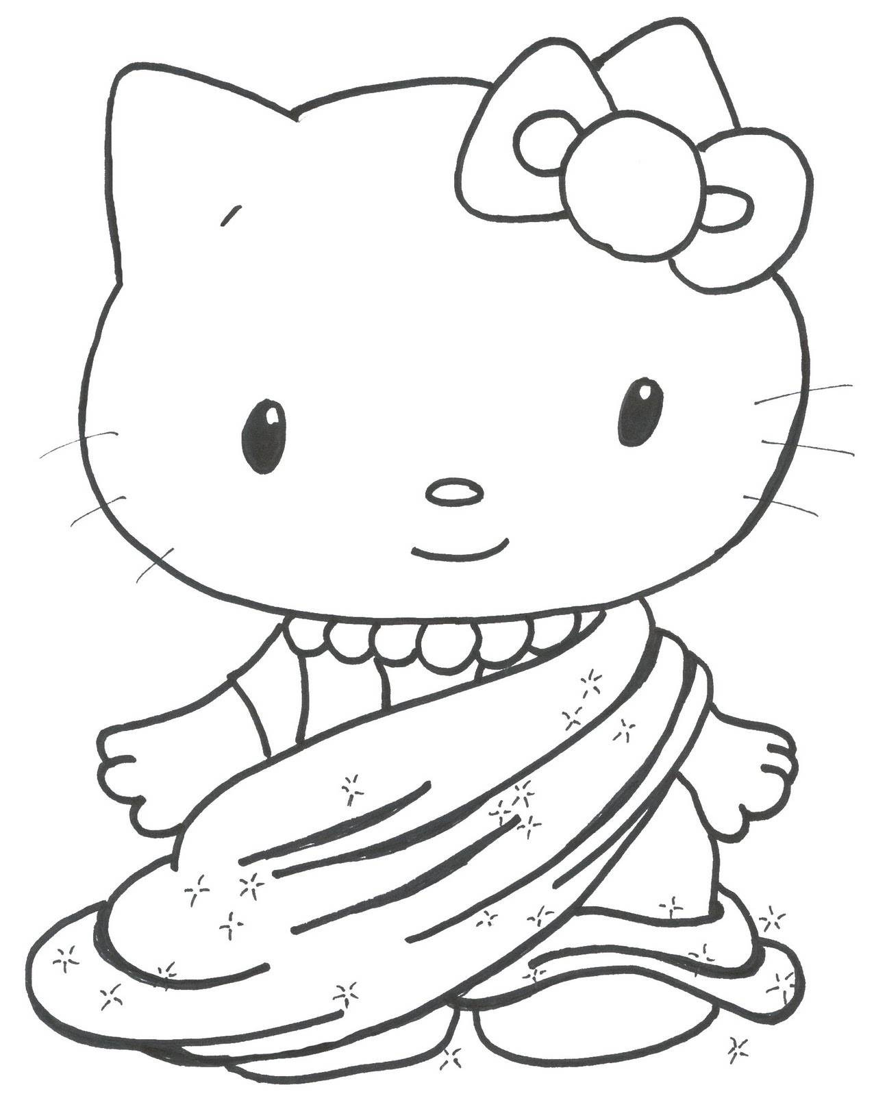 pretty hello kitty coloring pages - photo#17