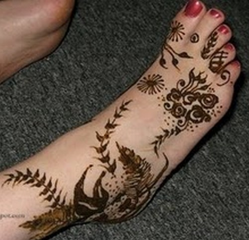 Feet Mehndi Design Pic : Pakistani mehandi designs foot mehndi