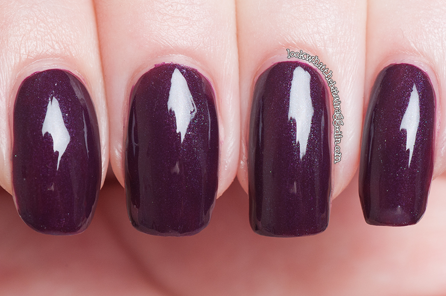 Illamasqua nail polish in Gothica limited edition Canada Bay exclusive swatch