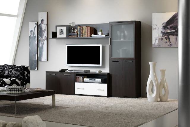 Karruzel del hogar muebles de salon for Muebles de oficina color wengue