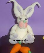 Siguiendo las indicaciones de Mariana he modelado este conejo de pascua. tarta conejo de pascua