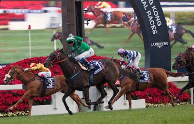 Shatin, Hong Kong, Longines, Mile, Race, Horse, Jockey, Celebration, 2013, Sports, Track, Glorious Days, Winner, Winning, Douglas Whyte, China, Asia,