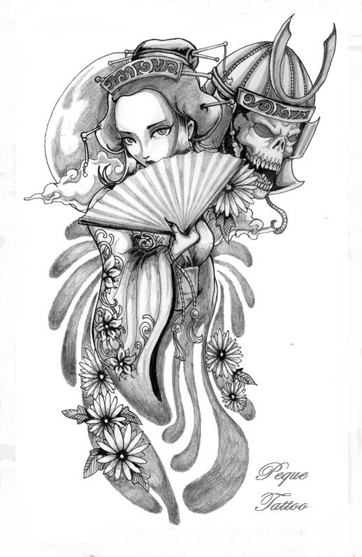 Peque art blog geishas - Tattoos geishas japonesas ...