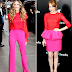¿Usarías bloque de color rojo y rosado?
