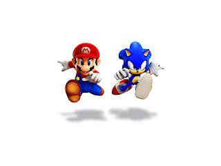 Sonic vs Super Mario Funny HD Wallpaper
