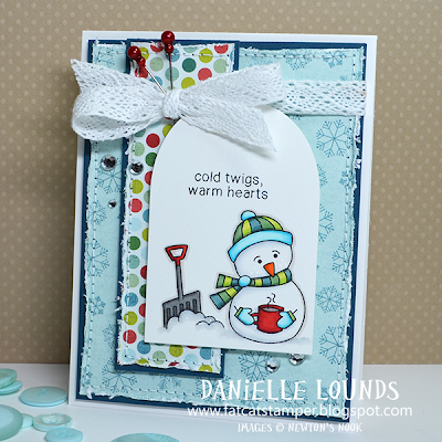 Frozen Friends snowman card by Danielle Lounds for Newton's Nook Designs