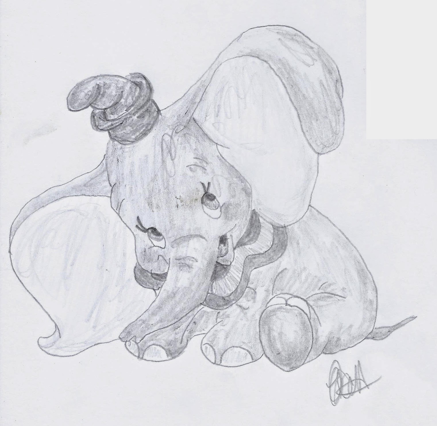 Disney Study, Dumbo, www.JoLinsdell.com #Disney #Sketches #Illustrating