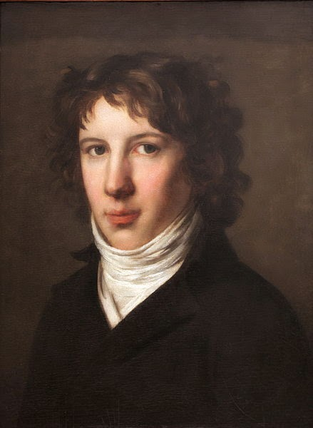 Louis Antoine de Saint-Just by Pierre-Paul Prud'hon, 1793