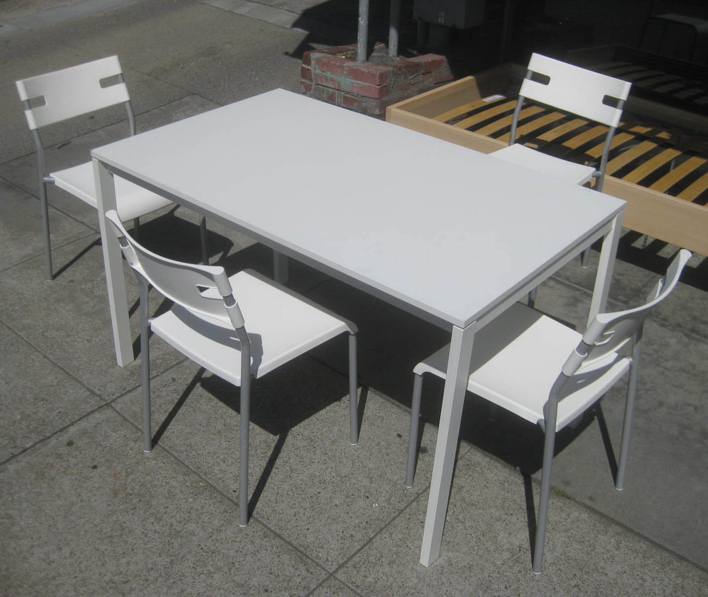 Uhuru Furniture Collectibles Sold Ikea Table And Four Chairs 50